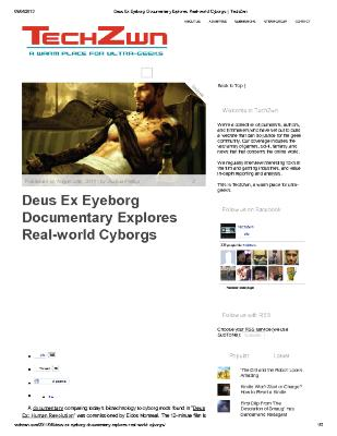 Dues Ex Eyeborg Documentary Explores Real-World Cyborgs