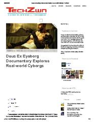 Deus Ex Eyeborg Documentary Explores Real-world Cyborgs
