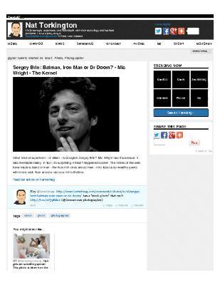 Sergey Brin: Batman, Iron Man, or Dr. Doom?