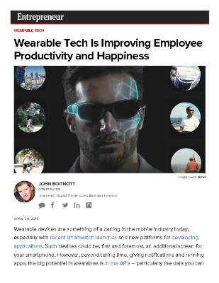 Wearable Tech Is Improving Employee Productivity and Happiness