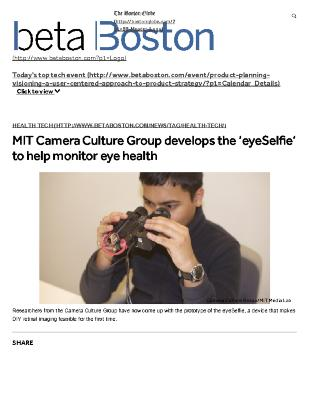 MIT Camera Culture Group Develops The 'eyeSelfie' To Help Monitor Eye Health