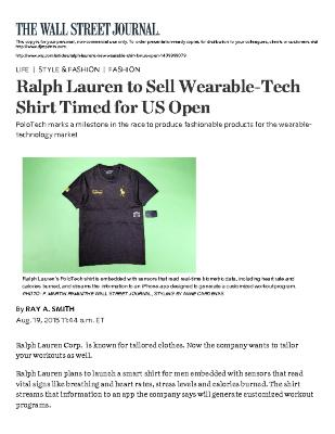 Ralph Lauren to Sell Wearable-Tech Shirt