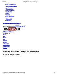 Eyeborg: Man Films Through His Missing Eye