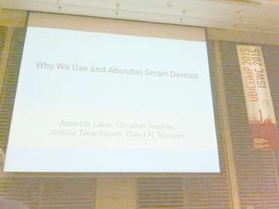 Why We Use and Abandon Smart Devices