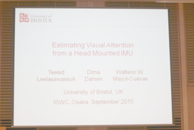 Estimating Visual Attention from a Head Mounted IMU