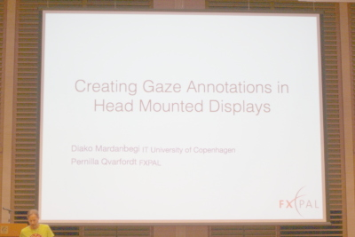 Creating Gaze Annotations in Head Mounted Displays