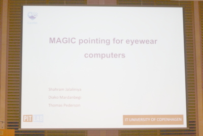 MAGIC Pointing for Eyewear Computers