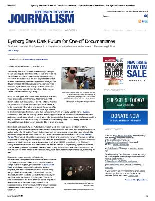 Eyeborg Sees Dark Future For One-Off Documentaries