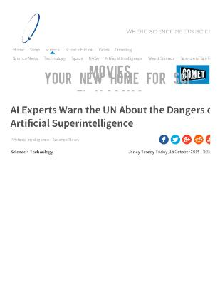 AI Experts Warn the UN About the Dangers of Artificial Superintelligence