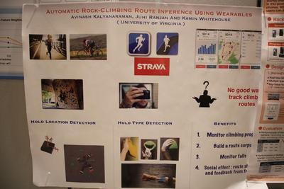 Automatic Rock Climbing Route Inference Using Wearables