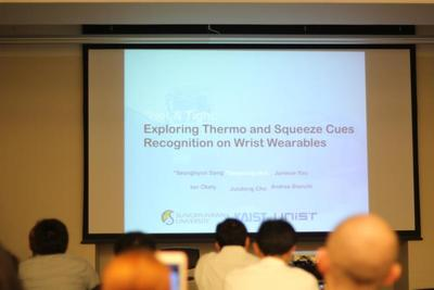 Hot & Tight: Exploring Thermo and Squeeze Cues Recognition on Wrist Wearables