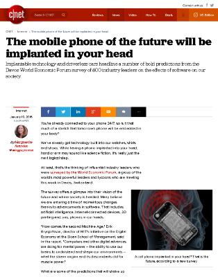 The Mobile Phone of the Future will be Implanted in your Head