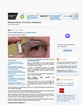 Electroceuticals: The Future of Medicine