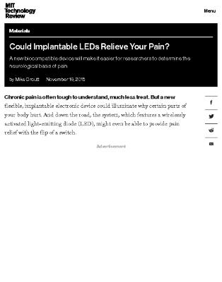 Could Implantable LEDs Relieve Your Pain?