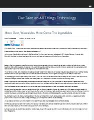 Move Over, Wearables. Here Come The Ingestibles