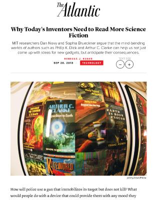 Why Today's Inventors Need to Read More Science Fiction