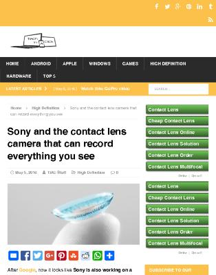 Sony and the contact lens camera that can record everything you see