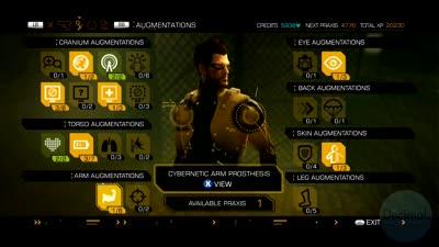 Cybernetic Arm Prosthesis Augment - Deus Ex: Human Revolution