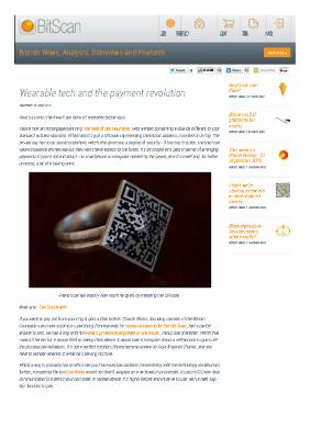 Wearable tech and the payment revolution