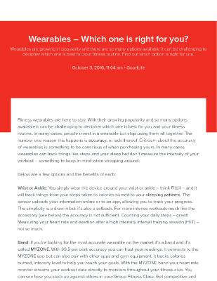 Wearables - Which is Right for You?