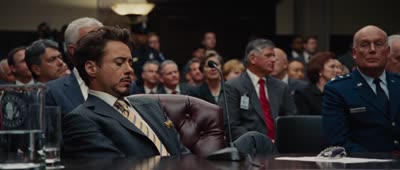 Iron Man 2 - Stark Hacks Senate Hearing with Transparent Tablet