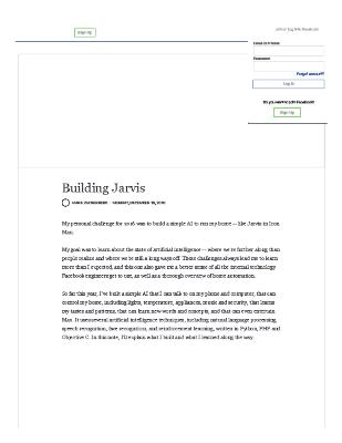 Building Jarvis