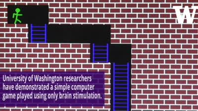 Playing a Computer Game with Brain Stimulation