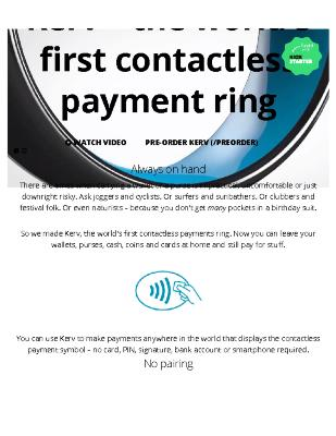 Kerv - The World's First Contactless Payment Ring