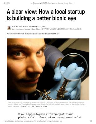 A clear view: How a local startup is building a better bionic eye