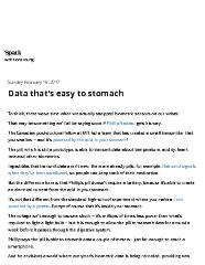 Data that's Easy to Stomach