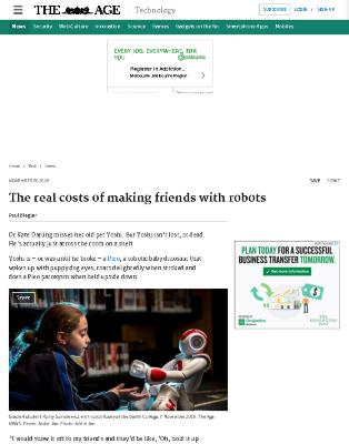 The Real Cost of Making Friends with Robots