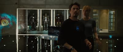 Iron Man 2 - Tony Interacts with Holographic Interfaces