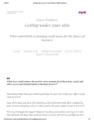 Getting under your skin: What embeddable technology could mean for the future of business