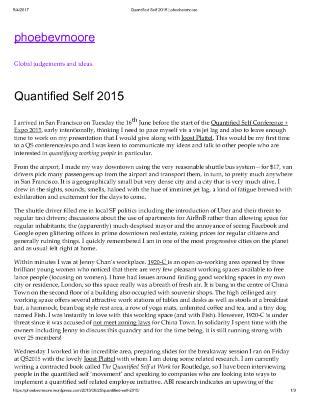 Quantified Self 2015