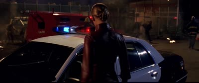 Terminator 3 - The T-X Turns Her Finger Into a Drill to Hack a Police Car