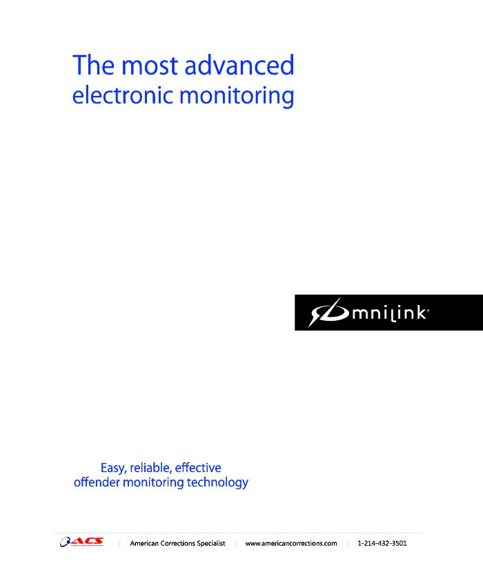 ACS Omnilink: The Most Advanced Electronic Monitoring