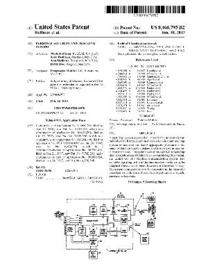 Personal security and tracking system (Patent US8466795)