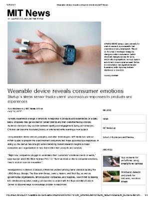 Wearable device reveals consumer emotions