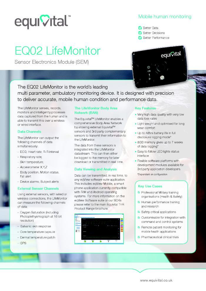 Equivital - EQ02 LifeMonitor