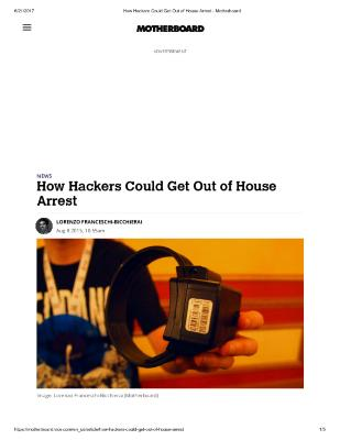 How Hackers Could Get Out of House Arrest