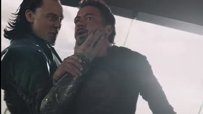 The Avengers - Tony Stark Falls into the Suit
