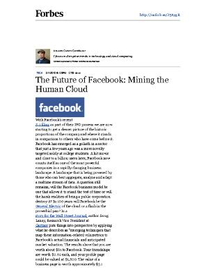 The Future of Facebook: Mining the Human Cloud