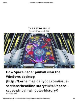 How Space Cadet Pinball Won the Windows Desktop
