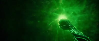 Green Lantern - Hal Creates a Personal Forcefield With His Ring
