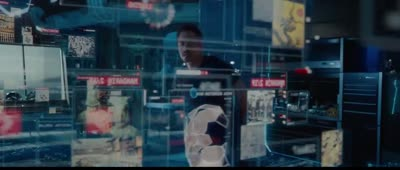 Iron Man 3 - Tony Stark Uses Holographic Interface with Jarvis for Detective Work