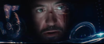 Iron Man 3 - Stark Pilots the Suit by Remote But It's Hit By a Truck