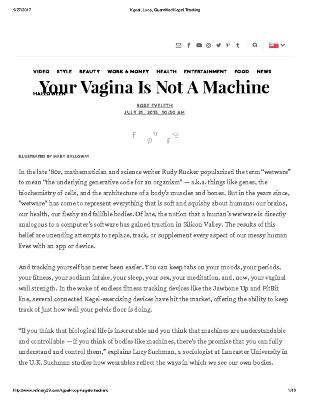 Your Vagina Is Not A Machine