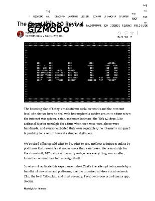 The Great Web 1.0 Revival
