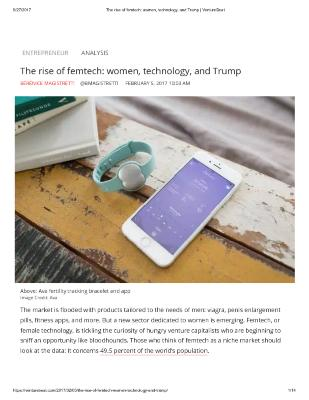 The rise of femtech: women, technology, and Trump