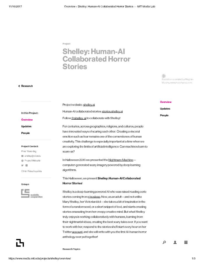 Shelley: Human-AI Collaborated Horror Stories